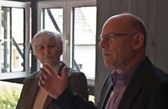 Minister Winfried Hermann und Staatssekretärin Gisela Splett vor Ort