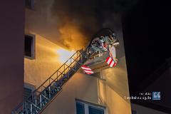 Brand im Hochhaus