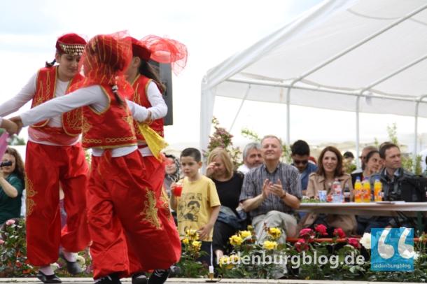 """Die Tanzgruppen """"Schmetterling"""" und """"Rosen"""" der Edinger Mochee ernteten mit ihren Auftritten viel Beifall."""