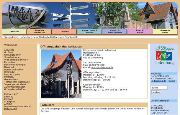 LAD aktuelle Webseite