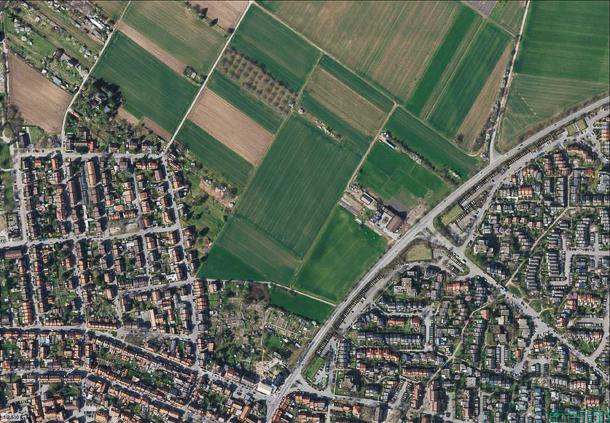Dieses Gebiet im Ladenburger Norden will die Stadtverwaltung in den kommenden Jahren bebauen. Dafür wird zunächst ein Masterplan benötigt.