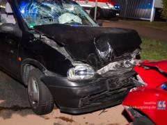 Schwerer Verkehrsunfall mit Fahrerflucht